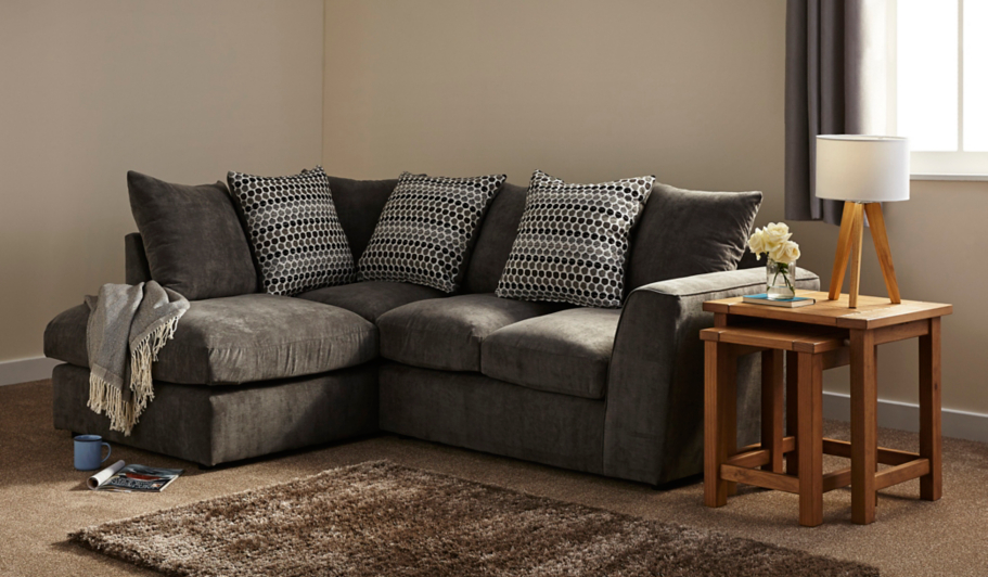 Todd Left Hand Corner Chaise Charcoal Home Amp Garden