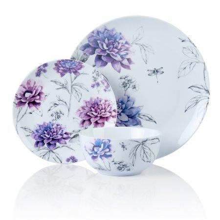 George Home Purple Floral Tableware Range