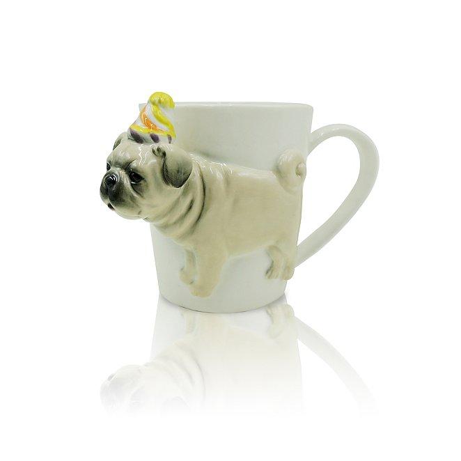 a6cdb937d96 Party Hat Pug Mug