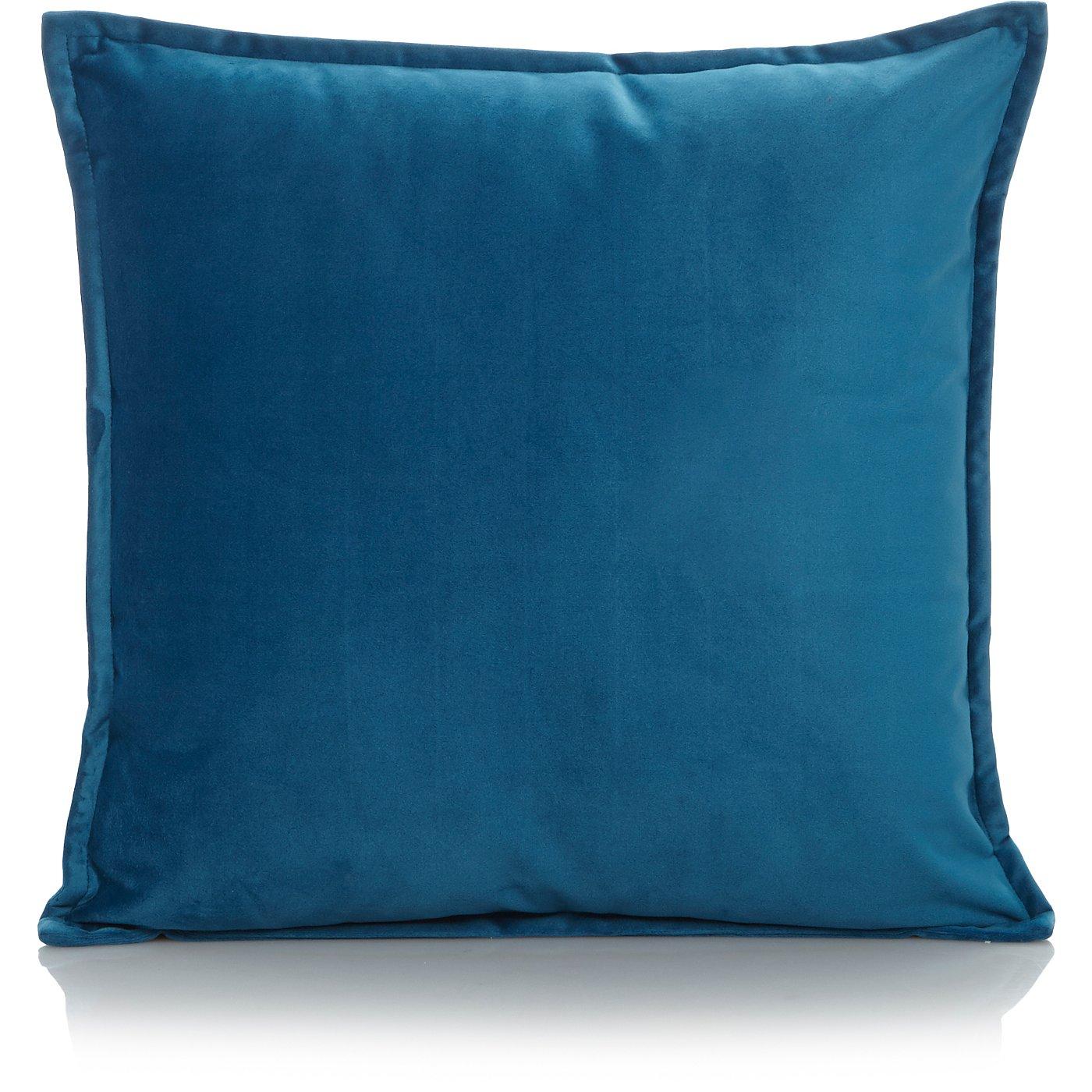 Blue Velvet Cushion - Various Sizes   Cushions   George at ASDA