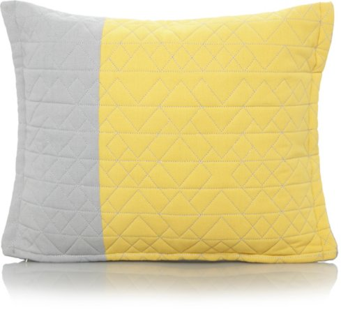 Quilted Grey & Yellow Scatter Cushion Range