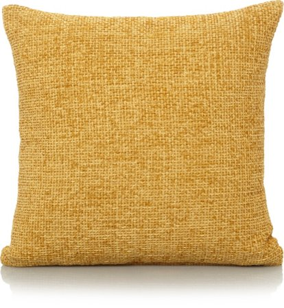 Yellow Chenille Cushion - Various Sizes