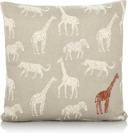 Safari Giraffe Print Cushion & Throw Range