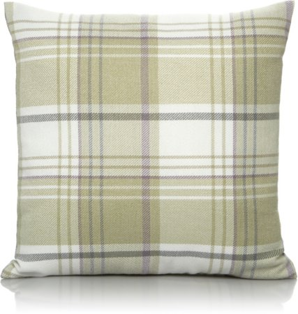 Woven Check Cushions - Green