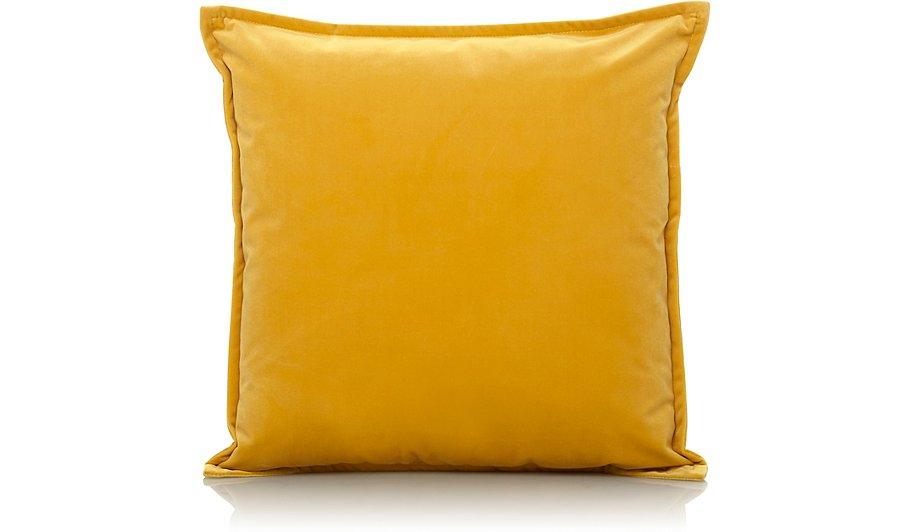 Yellow Velvet Cushion | Home & Garden | George