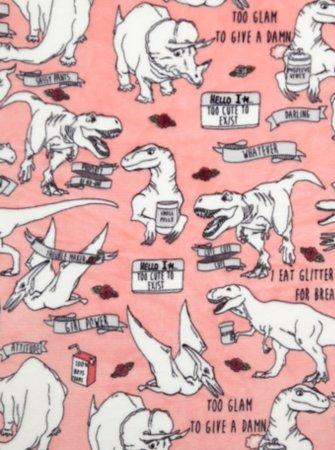 Dinosaur Printed Supersoft Throw