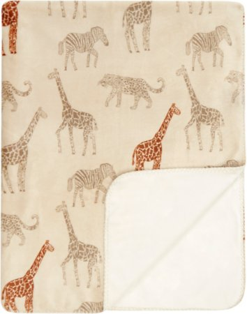 Safari Giraffe Print Supersoft Throw