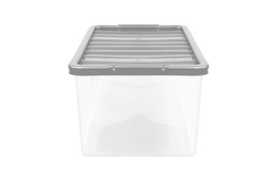 George Home Silver 20L Storage Box U0026 Lid