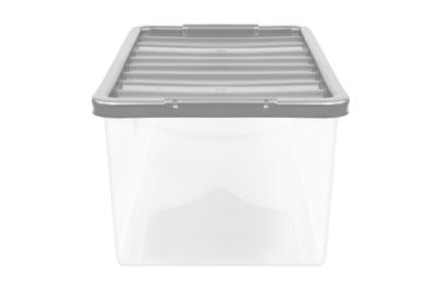George Home Silver 27L Storage Box U0026 Lid