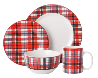 sc 1 st  Asda & Tartan Print 16 Piece Dinner Set | Home u0026 Garden | George