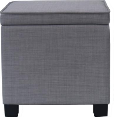 Square Storage Footstool   Light Grey   Furniture   George