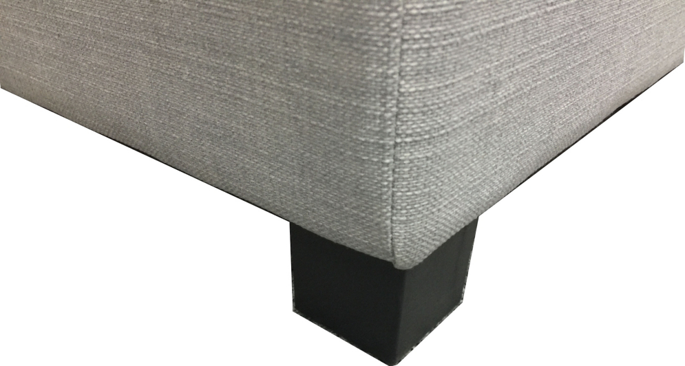 Square Storage Footstool Light Grey Furniture George
