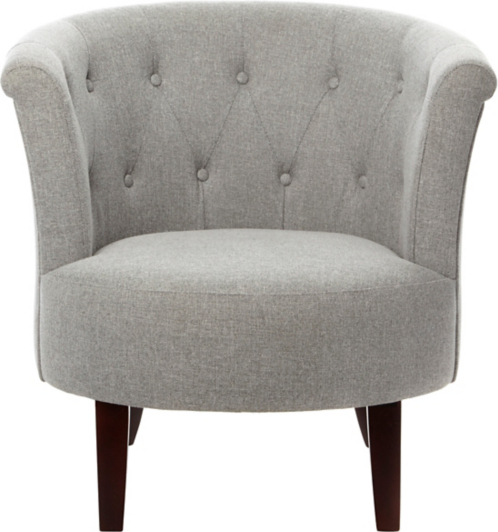 Buttoned Tub Chair Grey Furniture George