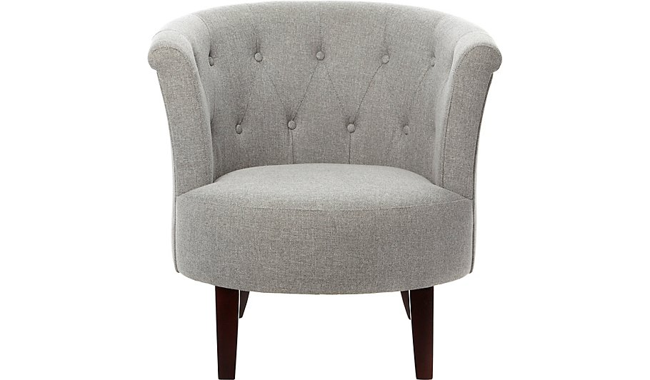 Buttoned Tub Chair - Grey | Furniture | George