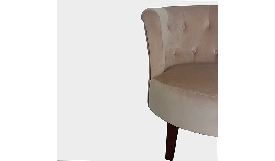 buttoned tub chair blush pink furniture george