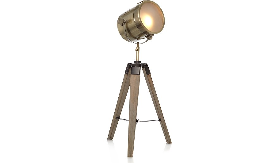 Industrial tripod table lamp home garden george for Floor lamp asda