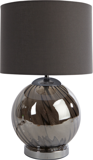 grey glass ball table lamp | home & garden | george