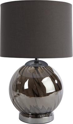 Grey Glass Ball Table Lamp