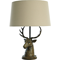 stag head lamp home garden george. Black Bedroom Furniture Sets. Home Design Ideas