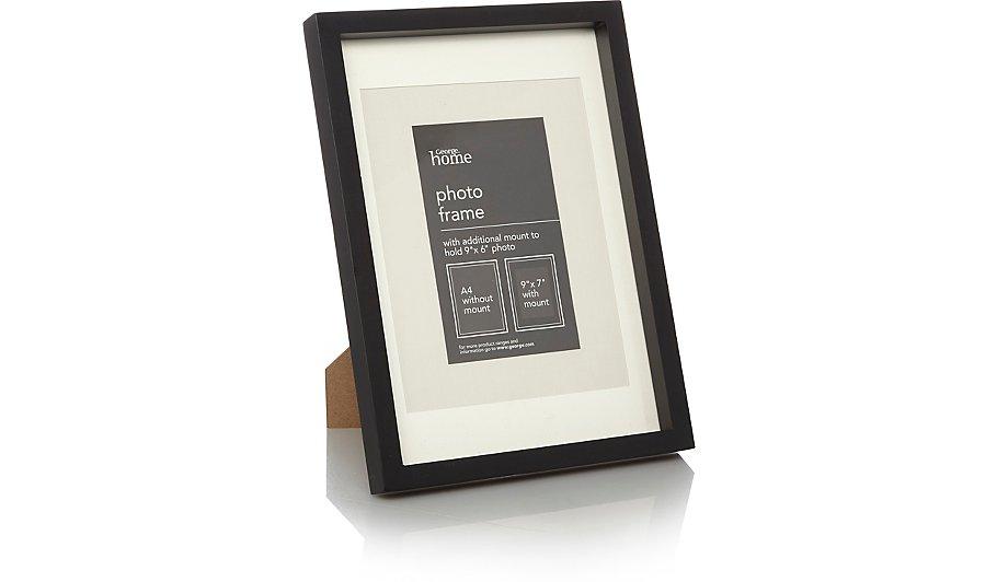 black boxed photo frame 9 x 7 inch 2 pack photo frames. Black Bedroom Furniture Sets. Home Design Ideas