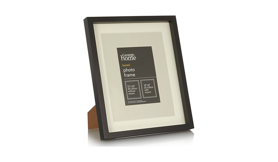Black Boxed Photo Frame 10x8 Inch | Home & Garden | George