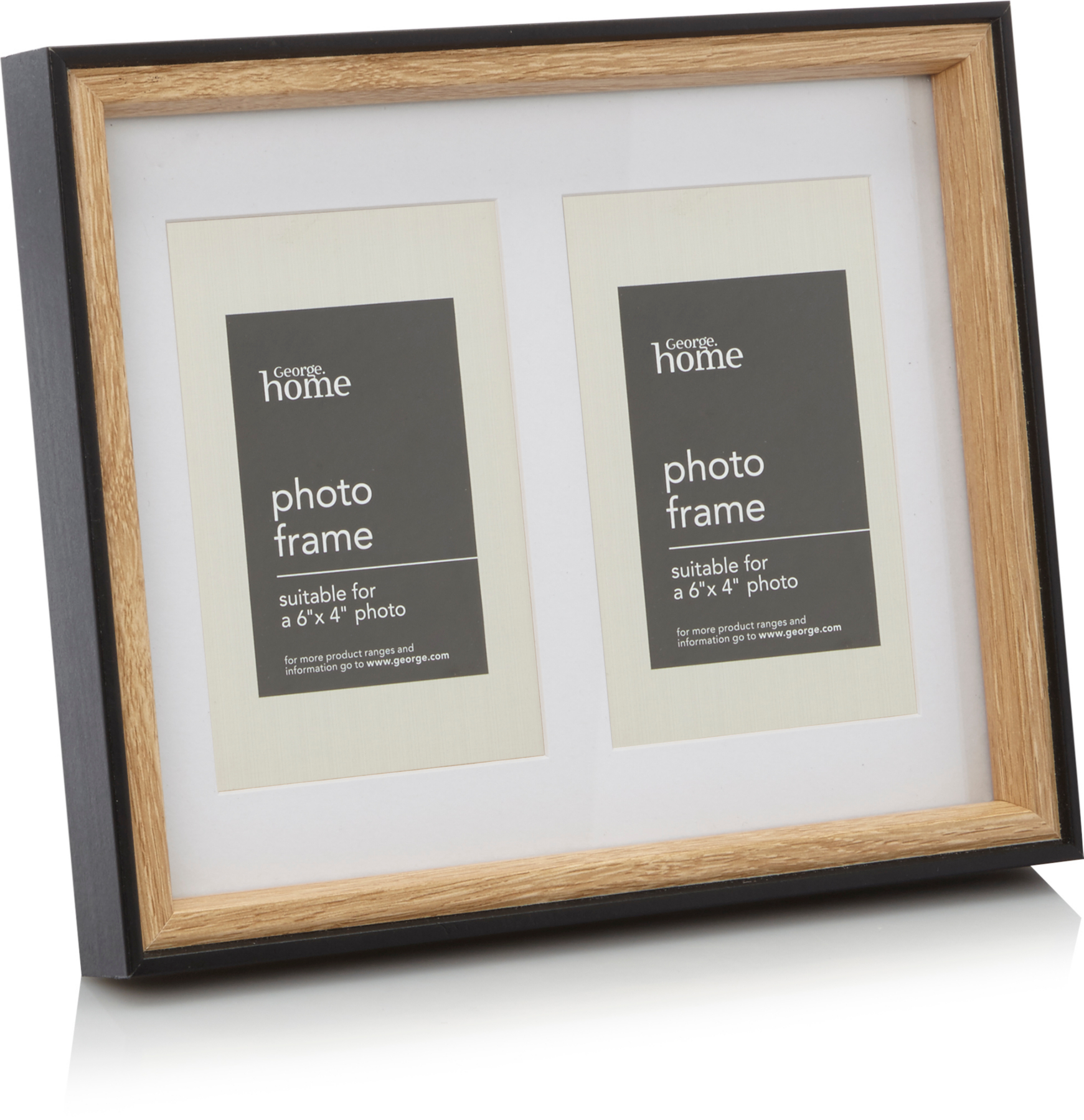 Black Two Tone Multi Frame 6x4 Inch Home Garden George