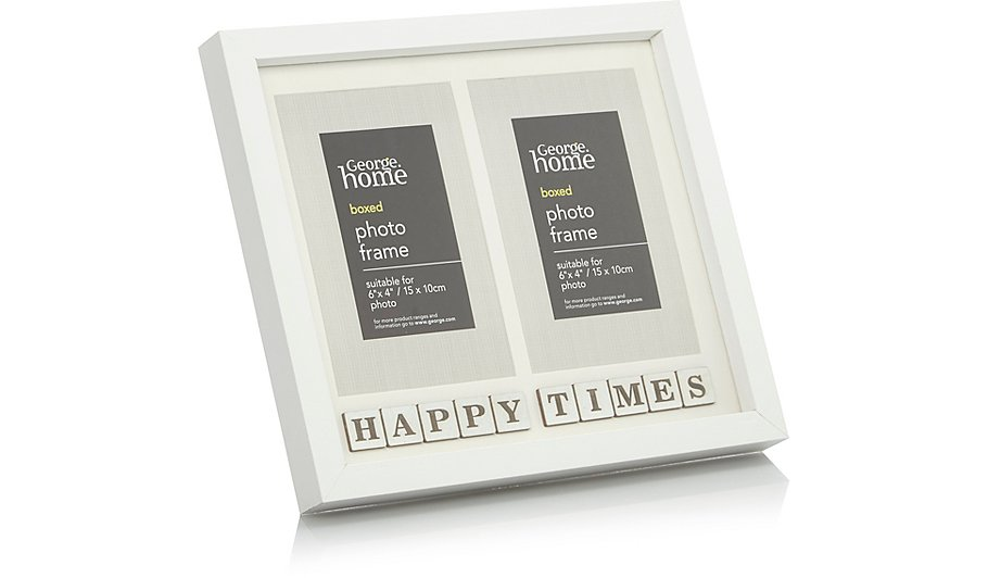 Cream Scrabble Multi Aperture Photo Frame 6x4 Inch | Home & Garden ...