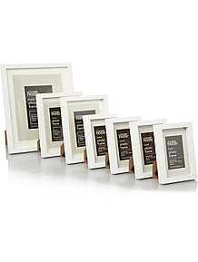 f600f6653c7 Wooden White Boxed Photo Frame -7 Pack