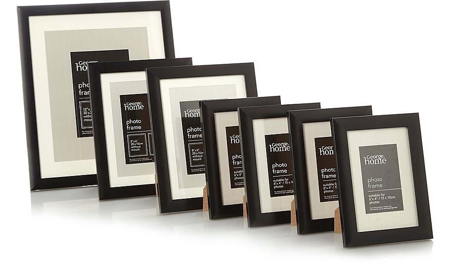 Black Wall Gallery Photo Frame Set - 7 Pack | Home & Garden | George