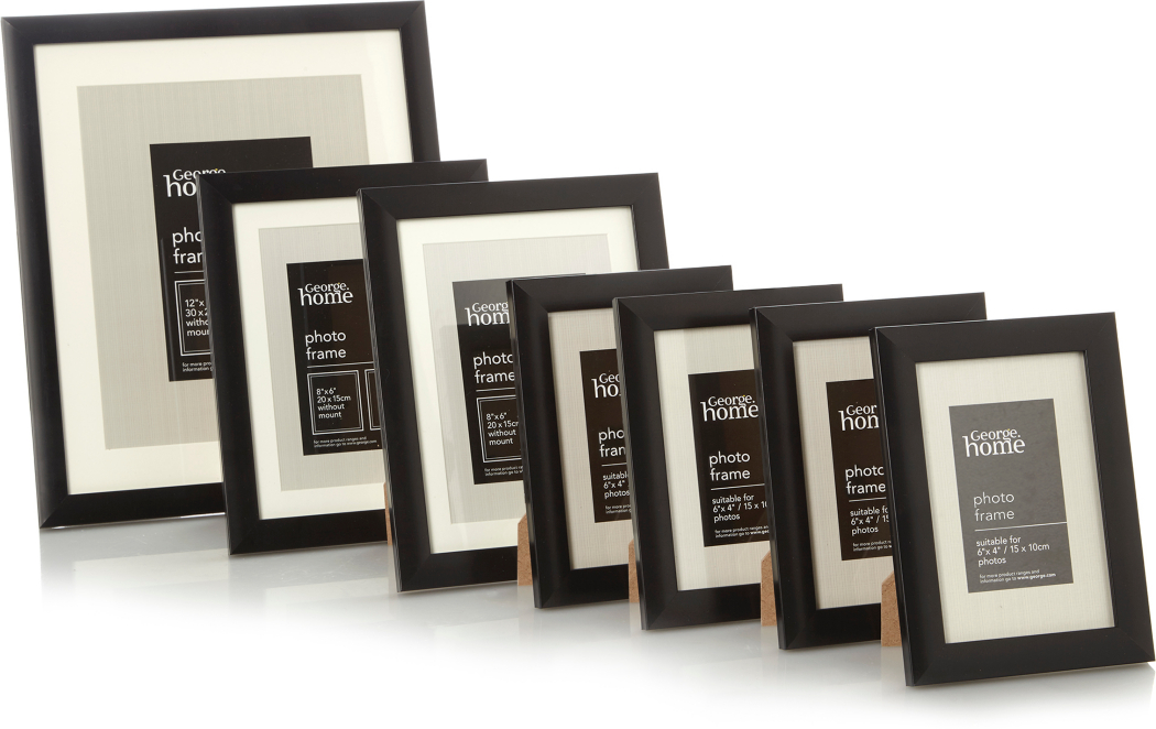 Black Wall Gallery Photo Frame Set 7 Pack Home Garden George