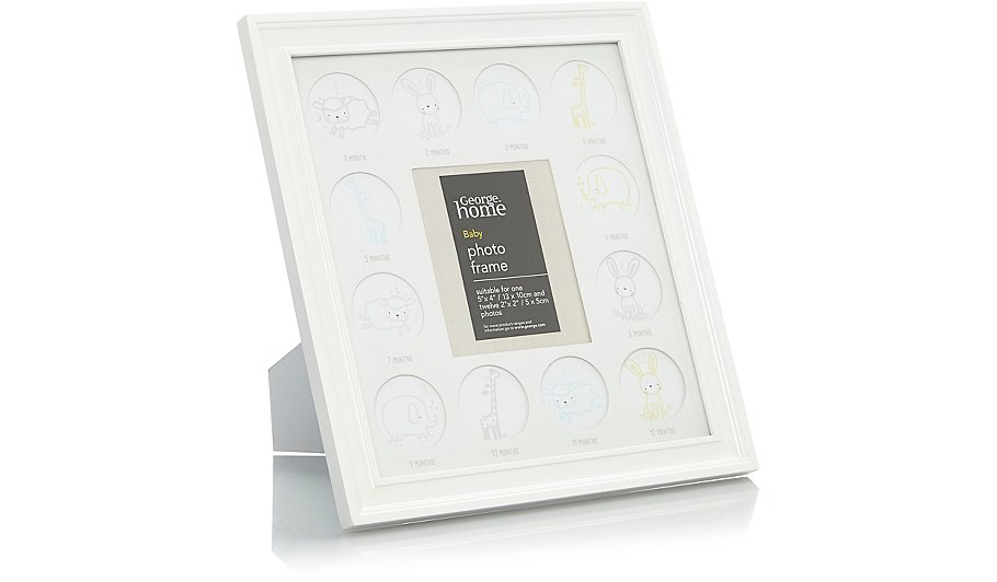 Cream Baby Multi Aperture Photo Frame | Home & Garden | George