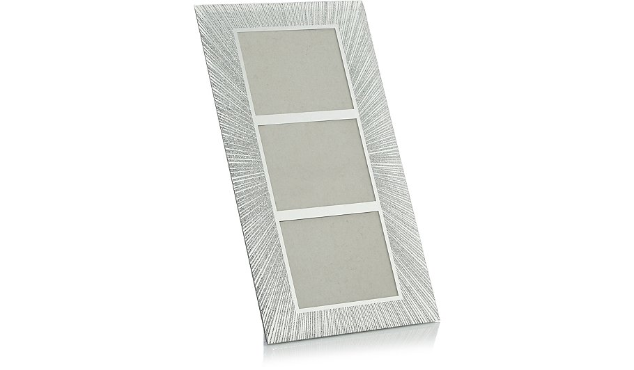 Silver Glitter Frame - 5x4 Inch 3 Apperture | Home & Garden | George