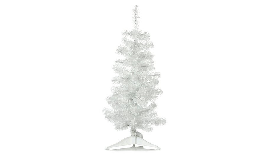 3ft White Pre-Lit Christmas Tree