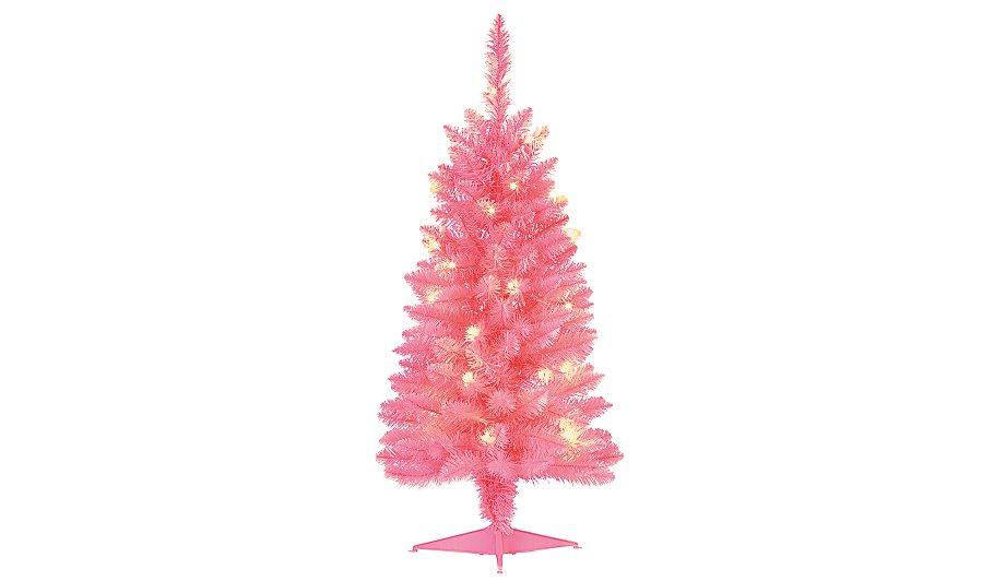 Pink Pre Lit Christmas Tree