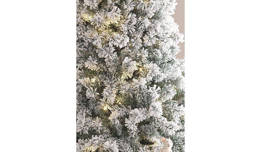 7ft Snowy Pre-Lit Christmas Tree