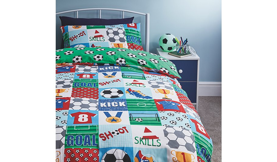 Football Patchwork Duvet Cover Single