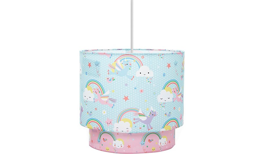Unicorns rainbows ceiling shade home garden george unicorns rainbows ceiling shade aloadofball Image collections