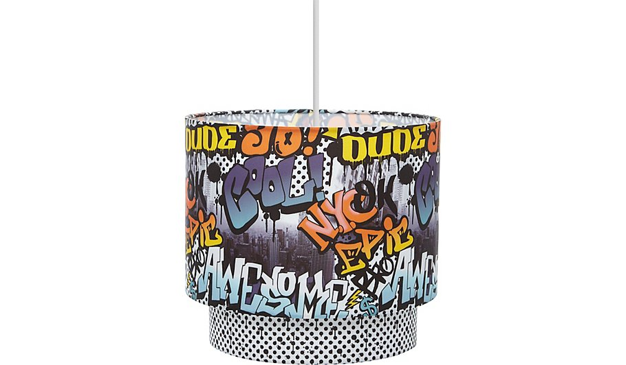 Graffiti ceiling shade home garden george graffiti ceiling shade aloadofball Image collections