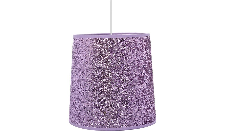 Lilac glitter ceiling shade home garden george lilac glitter ceiling shade mozeypictures Images