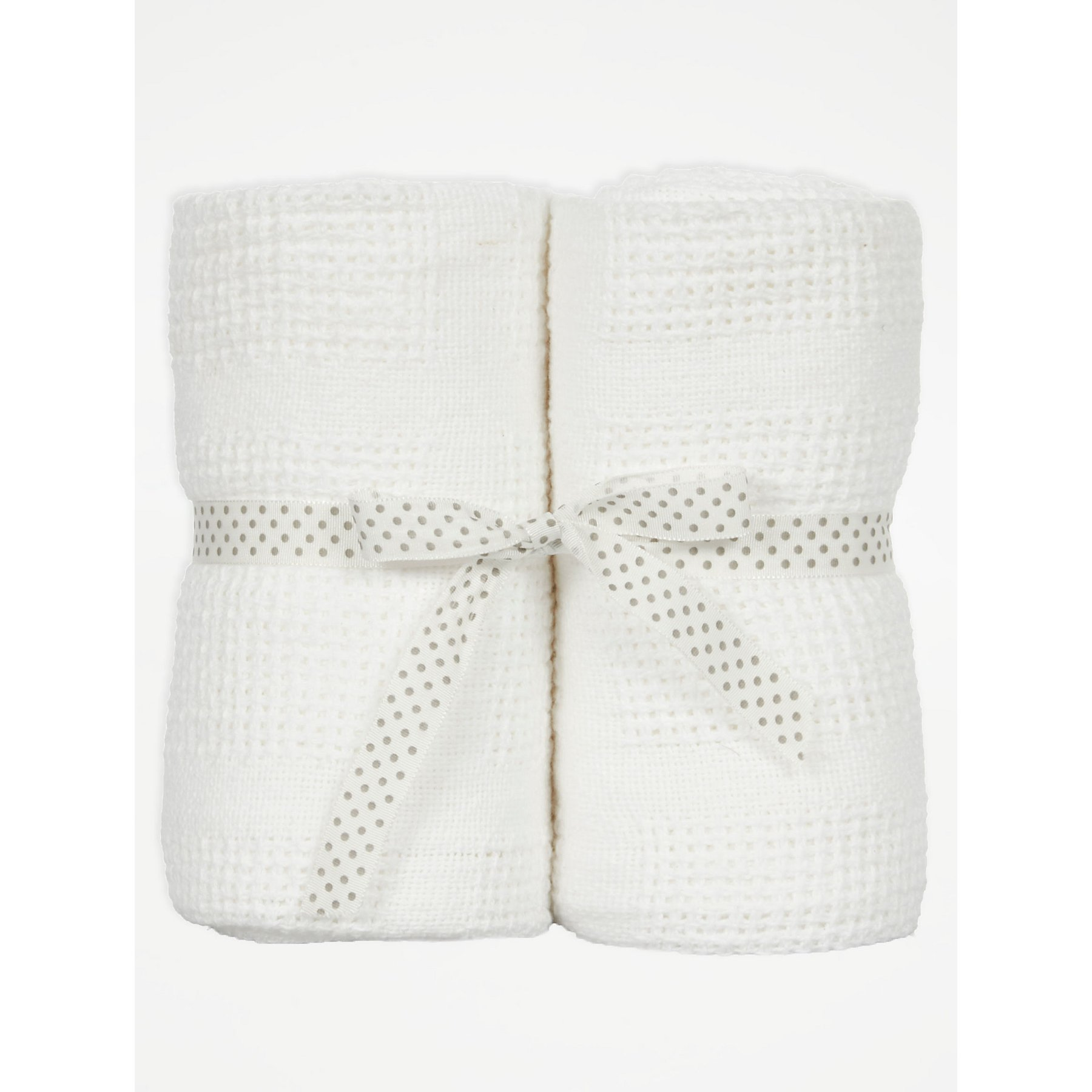 White Cellular Baby Shawl 2 Pack