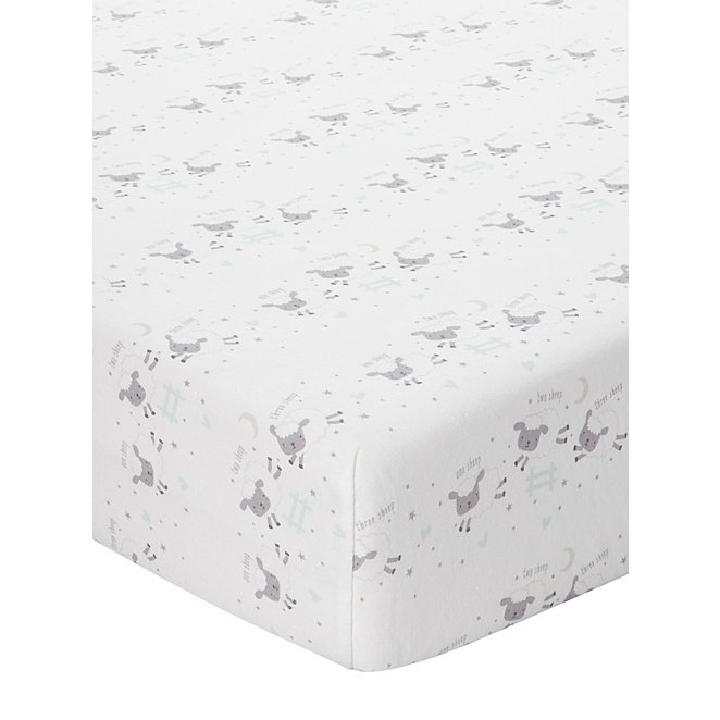 f170492ee32 Counting Sheep Cotbed Fitted Sheets - Set of 2 | Baby | George