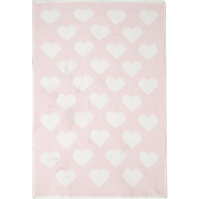 Heart Chenille Baby Blanket George