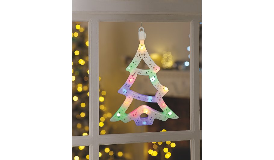 christmas tree light up window decoration christmas shop