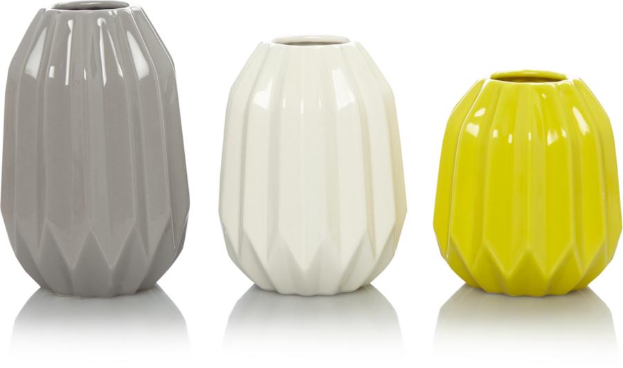 Set of 3 Vases Home & Garden