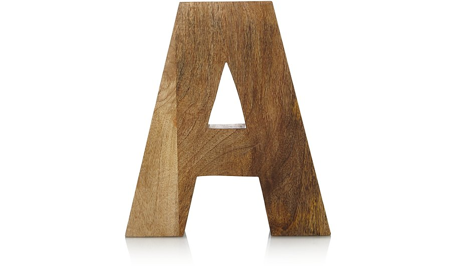 Wooden letter a home garden george for Baby letter table for sale