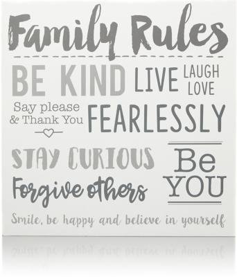 Genial Family Rules Wall Art