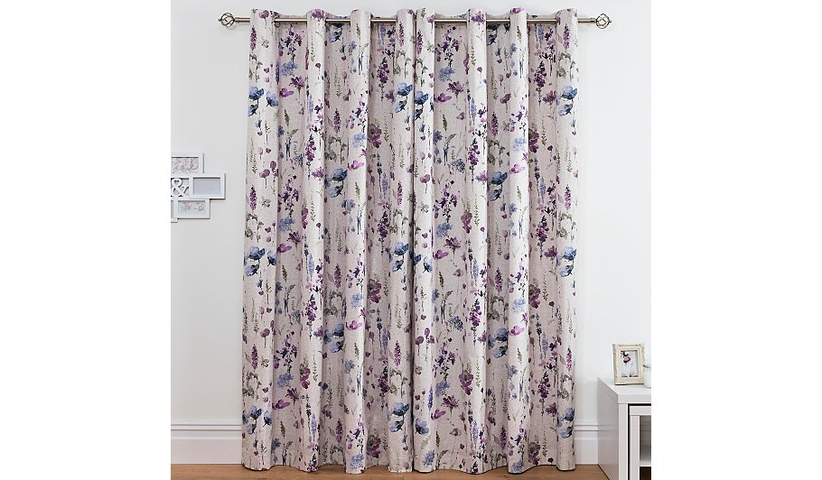 Meadow Floral Cotton Lined Curtains