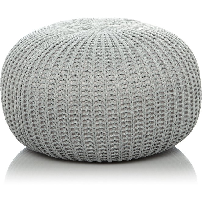 Groovy Fine Knitted Pouffe Grey Ncnpc Chair Design For Home Ncnpcorg