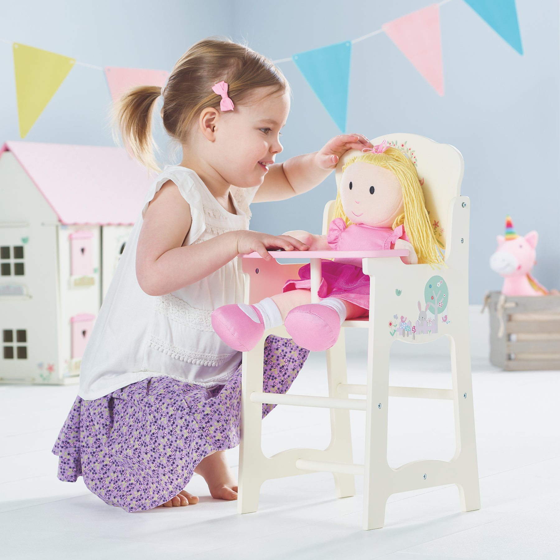 Wooden Toy High Chair