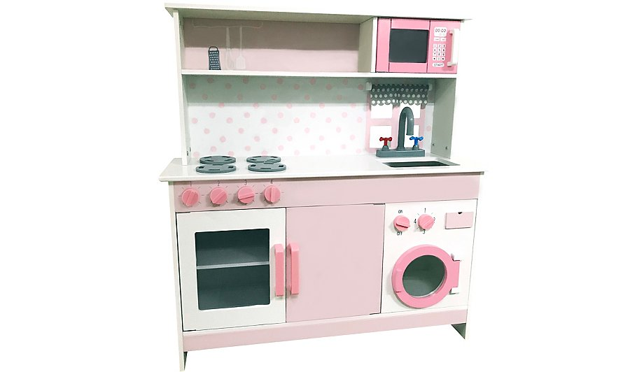 pink wooden kitchen toys character george